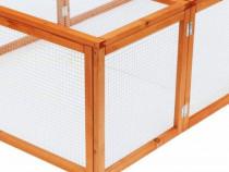 Cușcă pentru iepuri din Lemn Maribo, țarc pentru iepuri
