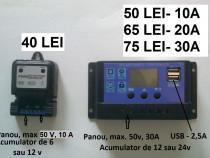 PWM, Controller solar panouri fotovoltaice incarcare 12/24v