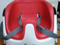 Scaun de masa copii 2 IN 1- inGenuity-Poppy red