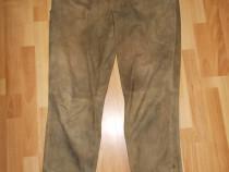Pantaloni vanatoresti Zeiler, din piele intoarsa, marimea 56