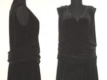 Rochie noua, din catifea neagra