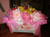 Aranjament din flori de sapun in vas metalic Jardin