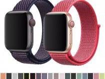 Curea din Material cu Scai / Bratara Ceas / Apple Watch