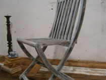 Scaun vechi din lemn reconditionat, pliabil