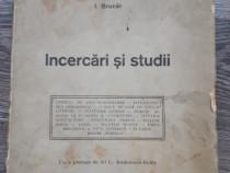 Carte veche i brucar incercari si studii1919