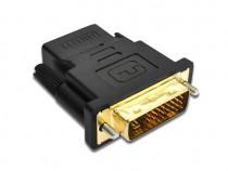 Adaptor DVI - HDMI Adaptor HDMI mama la DVI-D tata 24+5