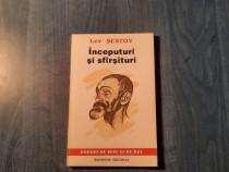 Inceputuri si sfarsituri de Lev Sestov