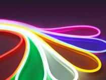 Banda LED Neon Flex 5 metri, 12V. culori alb/albastru/rosu
