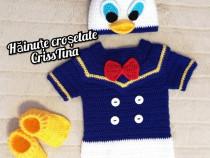 Costumas crosetat pentru ședințe foto Donald Duck
