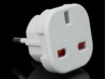 Adaptor priza UK Anglia la Europa Active FSF UK/EU Plug SLIM