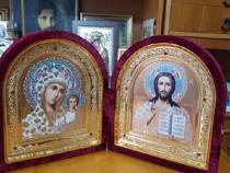 Icoana Diptic Fecioara Maria si Mantuitorul Hristos