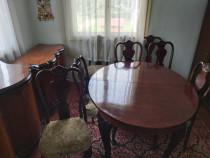 Mobila sufragerie lemn masiv in stil art nouveau