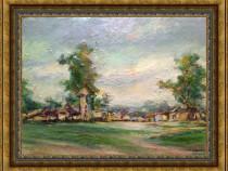 La marginea satului - tablou vechi