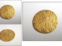 Medalion vechi, placat cu aur