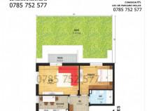 Apartament cu 2 camere, suprafata utila 57.20 mp+ curte 53mp