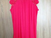 Tricou roz + esarfa cadou