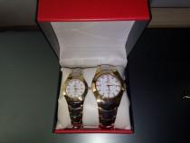 Set 2 ceasuri bărbătesc/dama Geneva Swiss (replica)