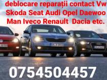 Reparații deblocare contacte auto în București și provincie