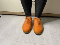 Pantofi oxford portocalii