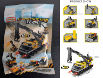 """Set lego 6 in 1 """"Construction Team"""" - 142 piese"""