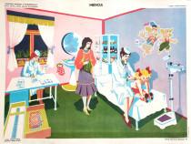 Afis / poster didactic vechi perioada comunista - Medicul