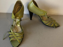 Sandale deosebite Passo Doble din piele naturala lacuita+mat