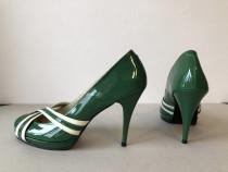 Pantofi Passo Doble originali, noi, din piele naturala lacui