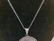 Lant argint + pandant argint (medalie comemorativa Austria)