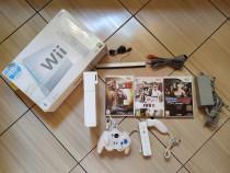Consola Wii, in cutia originala, accesorii originale, jocuri