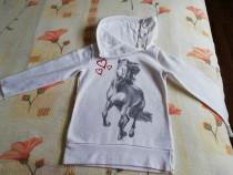 Bluza alba cu cal si guler inalt cu nasturi 134/140
