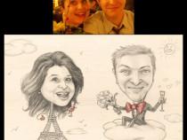 Comanda caricatura, portret, invitatii