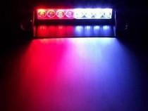 Lumini avertizare 8 LED stroboscop rosu/albastru politie SRI
