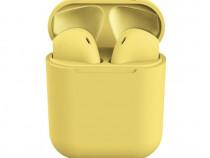 Casti Bluetooth inPods 12 Cu carcasa, Handsfree, Galben C379