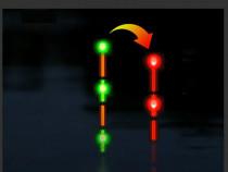 Plute cip schimbare culoare, verde/rosu