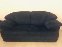 Canapea si fotoliu piele intoarsa