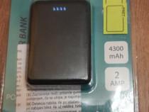 Baterie Externa cu doua porturi USB, 4300 mAh,5V-2 AMP, Nou!