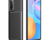 Huawei P SMART 2021 - Husa Carbon Din Silicon Neagra