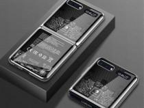 Husa premium lux+Folie ecran SAMSUNG Galaxy Z Flip 5G