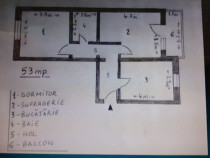 Burdujeni-Cuza Voda 2-Apartament 2 camere,renovat,34000E