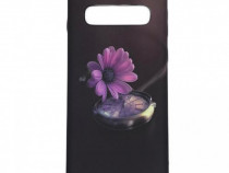 Husa telefon Plastic Samsung Galaxy S10 g973 Black Flower