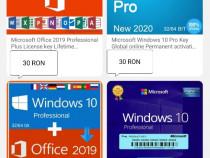 Licente Windows 10 professional si Office 2019 PRO