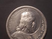 Moneda argint 5 pengo Ungaria 1938