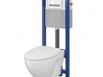Set Cersanit rezervor incastrat + buton + vas WC + capac