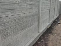 Construcții gard din placi de beton