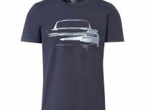Tricou Unisex Oe Porsche Turbo Albastru Inchis Marime L