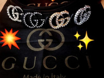 Curele Gucci strass,model nou,logo metalic