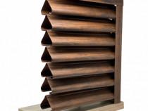 Gard tip Jaluzele Piramida 2000×1165 mm imitatie lemn mahon