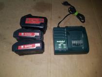 Baterie Acumulator incarcator METABO 2 si 5,2 AH 18v