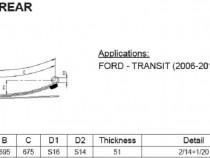 Arc cu 3 foi heavy duty Ford Tranzit 2006 -  prezent