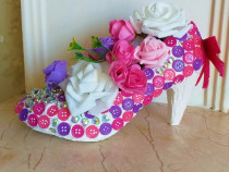 Pantof decorativ Glam Retro Martisor 8Martie